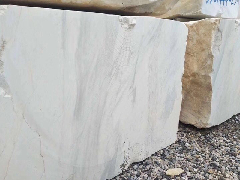 Volakas White Natural Marble Stone Blocks