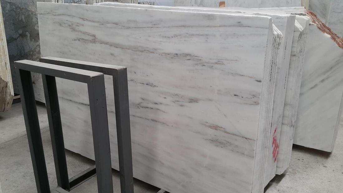 Volakas White Stone Slabs Polished Natural Marble Slabs