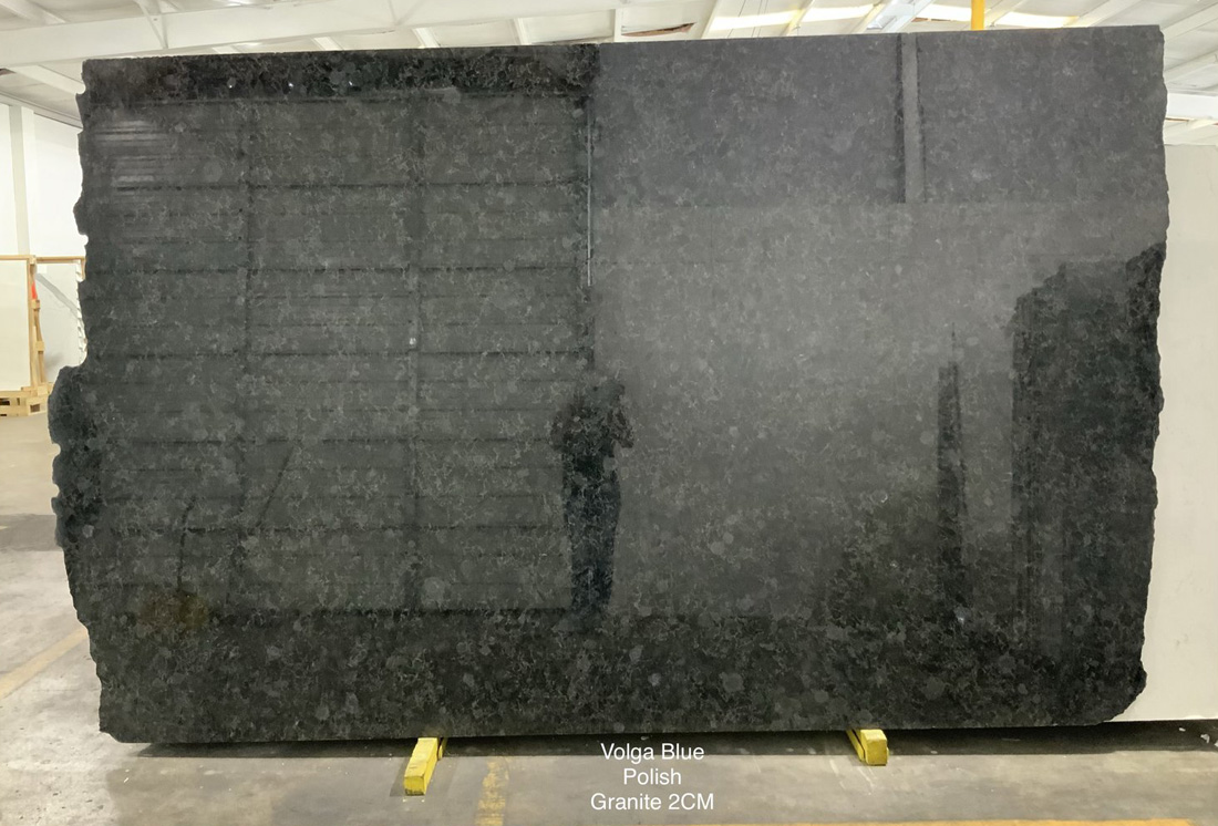 Volga Blue Granite Slabs Polished Ukraine Granite Slabs for Kitchen Countertops