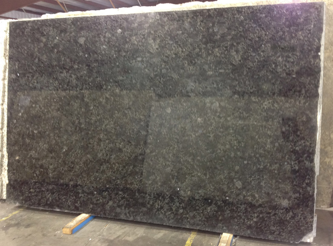 Volga Blue Polished Granite Slabs for Kitchen Countertops