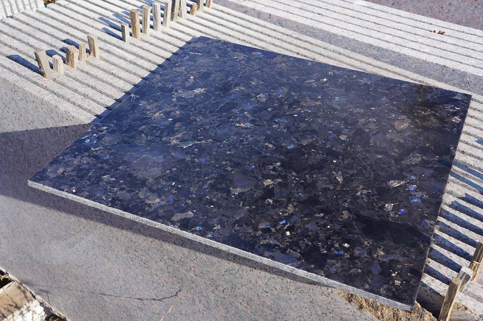 Volga Blue Polished Granite Tiles