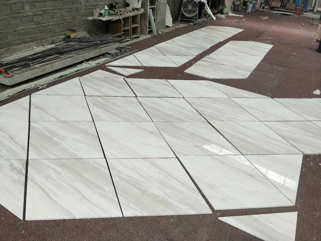 Volkas White Jazz White Marble Flooring Tiles