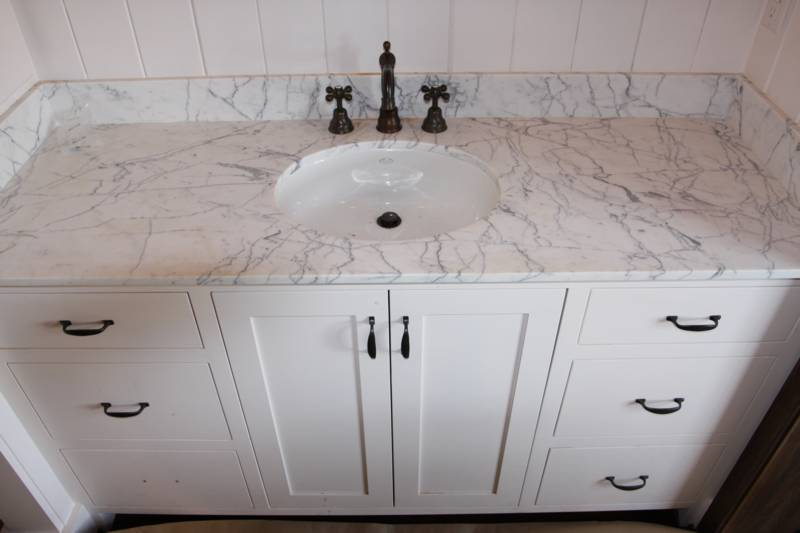 white vanity top countertop