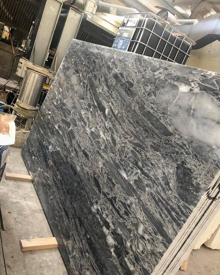 Wave Grey Slab Grey Polished Marble Slabs