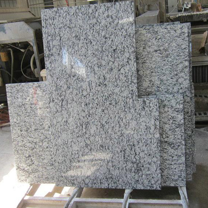 Wave White Granite Countertops Polished Granite Countertops for Kitchen