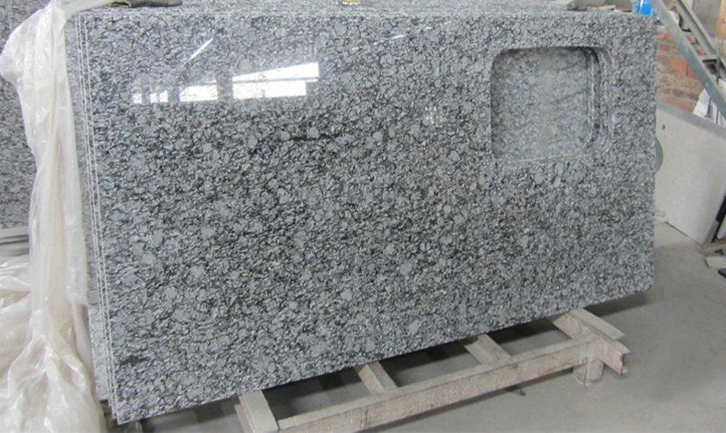 Wave White Granite Polished Granite Kitchen Countertops
