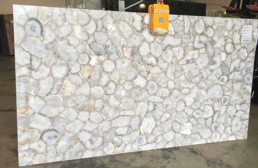 White Agate Semi Precious Stone Slabs