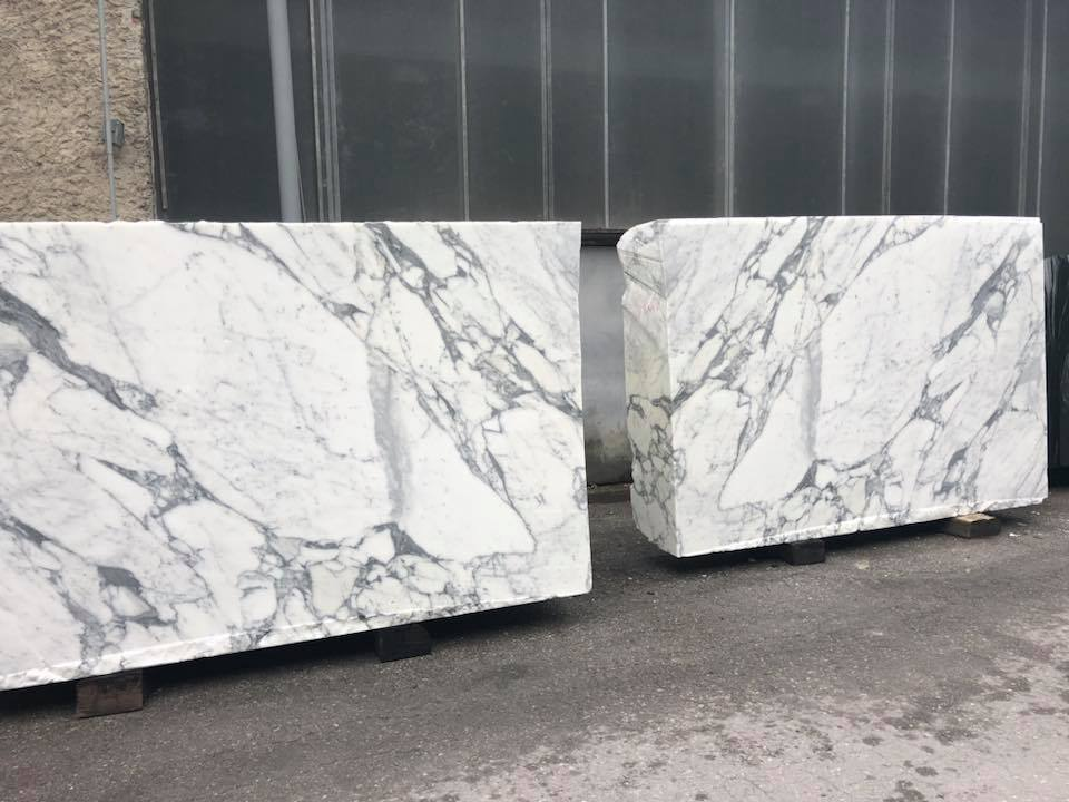 White Arabescato Cervaiole Marble Blocks White Natural Marble Blocks