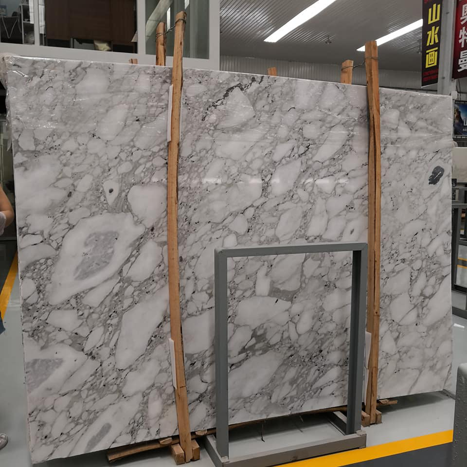 White Arabescato Marble Slabs Italian White Polished Marble Slabs