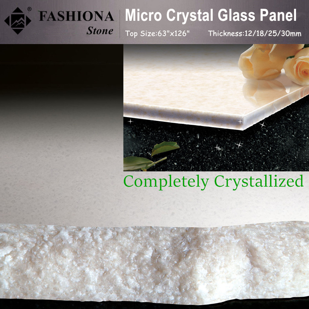 White Artificial Stone Crystal Glass Stone