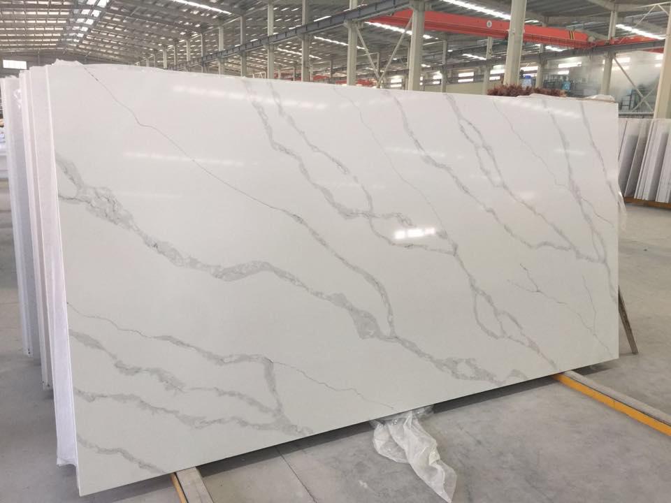 White Artificial Stone Slabs Quartz Slabs