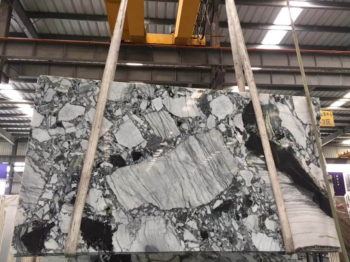 White Beauty Chinese Ice Green Marble Slabs