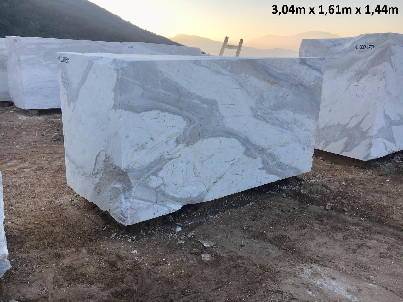 White Calacatto Blocks Natural Marble Blocks from Turkey