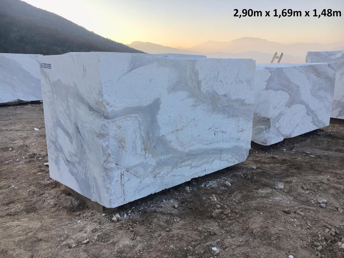 White Calacatto Stone Blocks Natural Marble Blocks