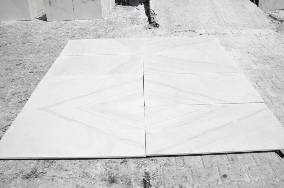 White Calcutta Marble Tiles Flooring Tiles