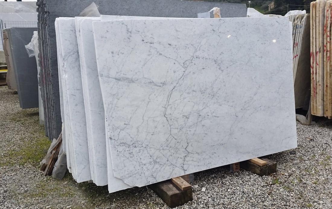 White Carrara C A Grade White Marble Slabs