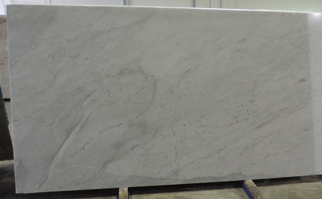 White Carrara Honed Marble Slabs Italian White Marble Stone Slabs