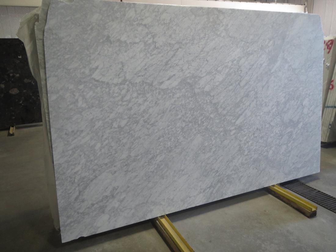 White Carrara Marble Honed Slab Italian White Marble Slabs