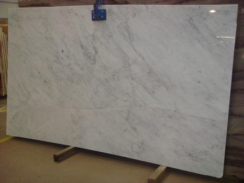 White Carrara Marble Polished White Marble Slabs