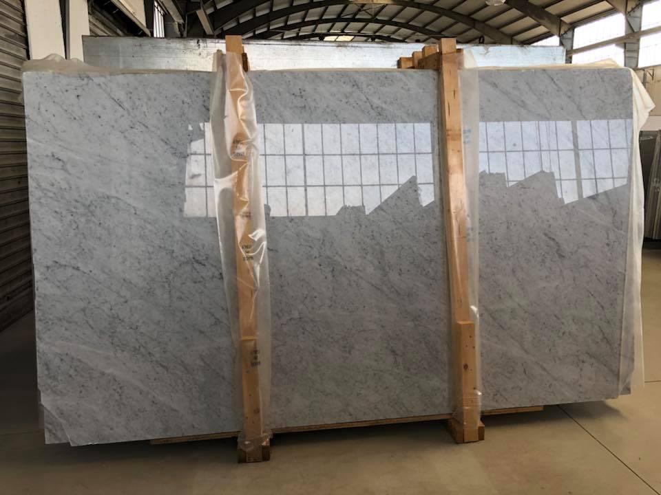 White Carrara Slabs CD Polished White Marble Slabs