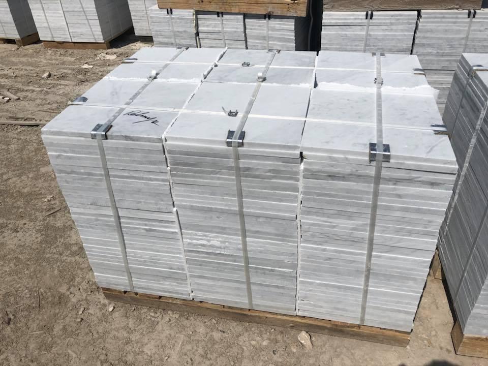 White Carrara Tiles Marble Tiles for Flooring