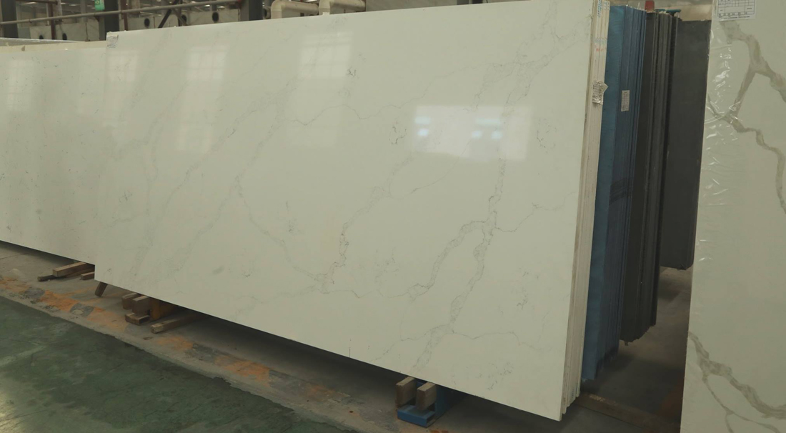 White Engineered Quartz Slabs from Chinese Supplier