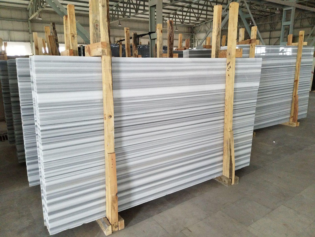 White Equator Marble Slabs Polished White Marble Slabs