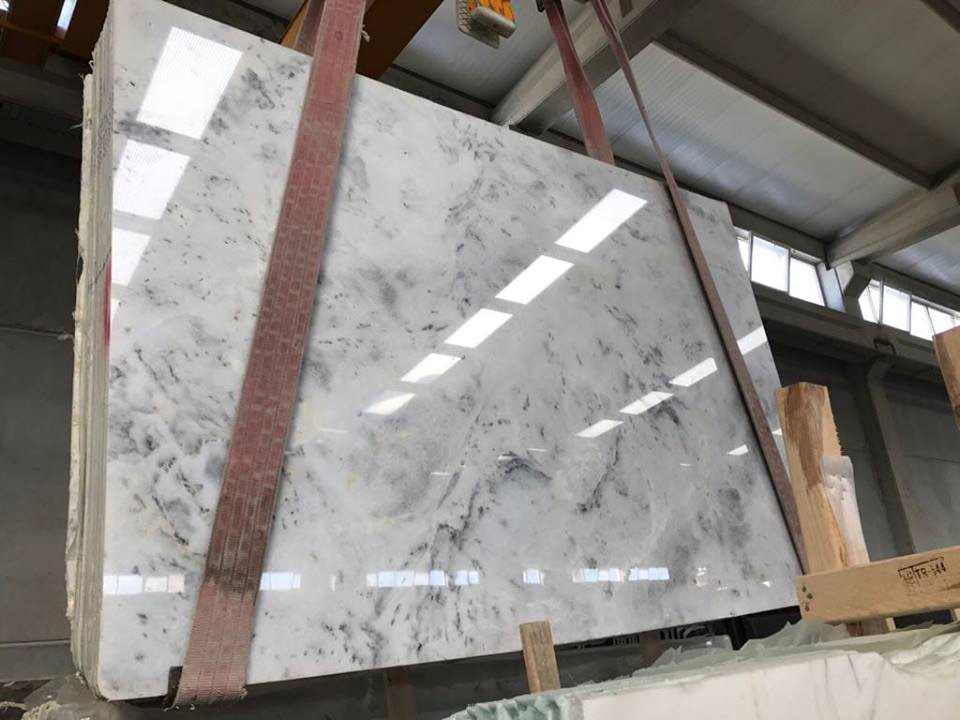White Exclusive Turkish Polished Marble Slabs