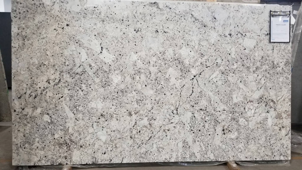 White Galaxy 3CM Slabs Polished White Granite Slabs