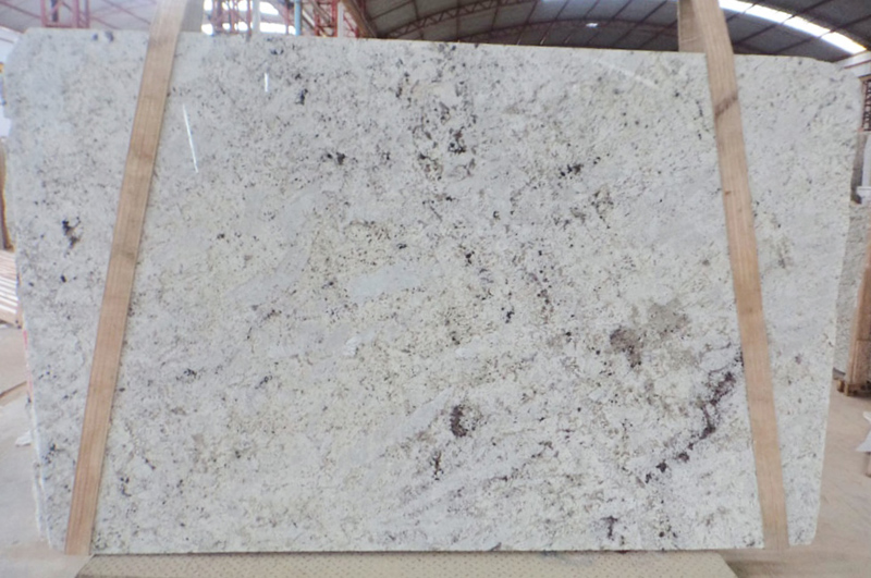 White Galaxy 3cm Granite Polished Slabs Indian White Stone Slabs