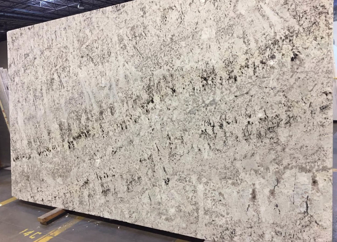 White Galaxy Granite Slab Polished White Granite Slabs for Countertops
