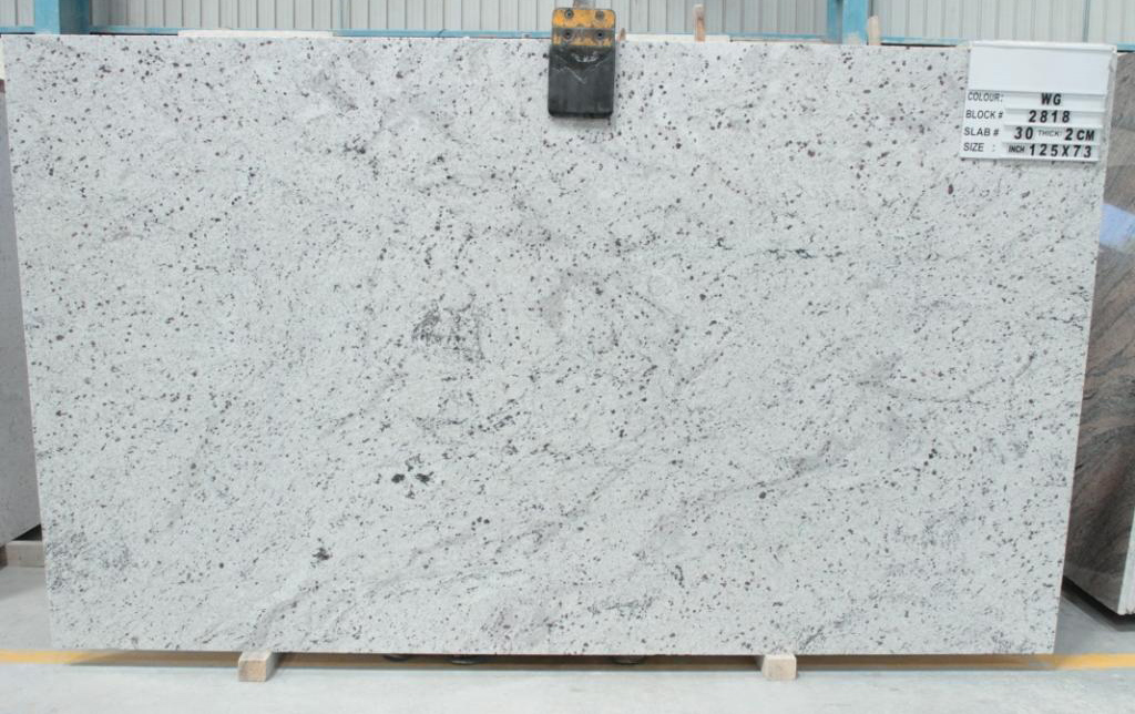 White Galaxy Granite Slabs Indian Polished Granite Slabs