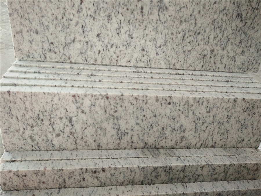 White Giallo San Francisco Granite Stairs and Steps