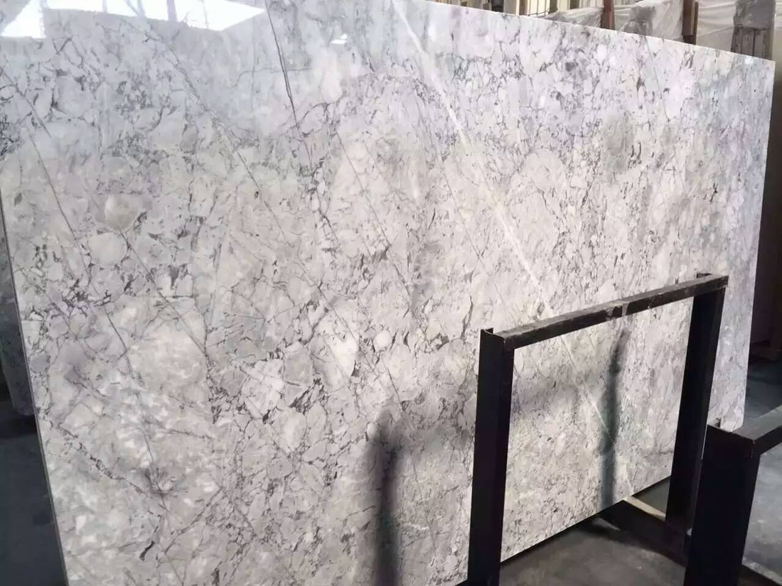 White Guangxi Marble Slabs Polished White Chinese Marble Slabs
