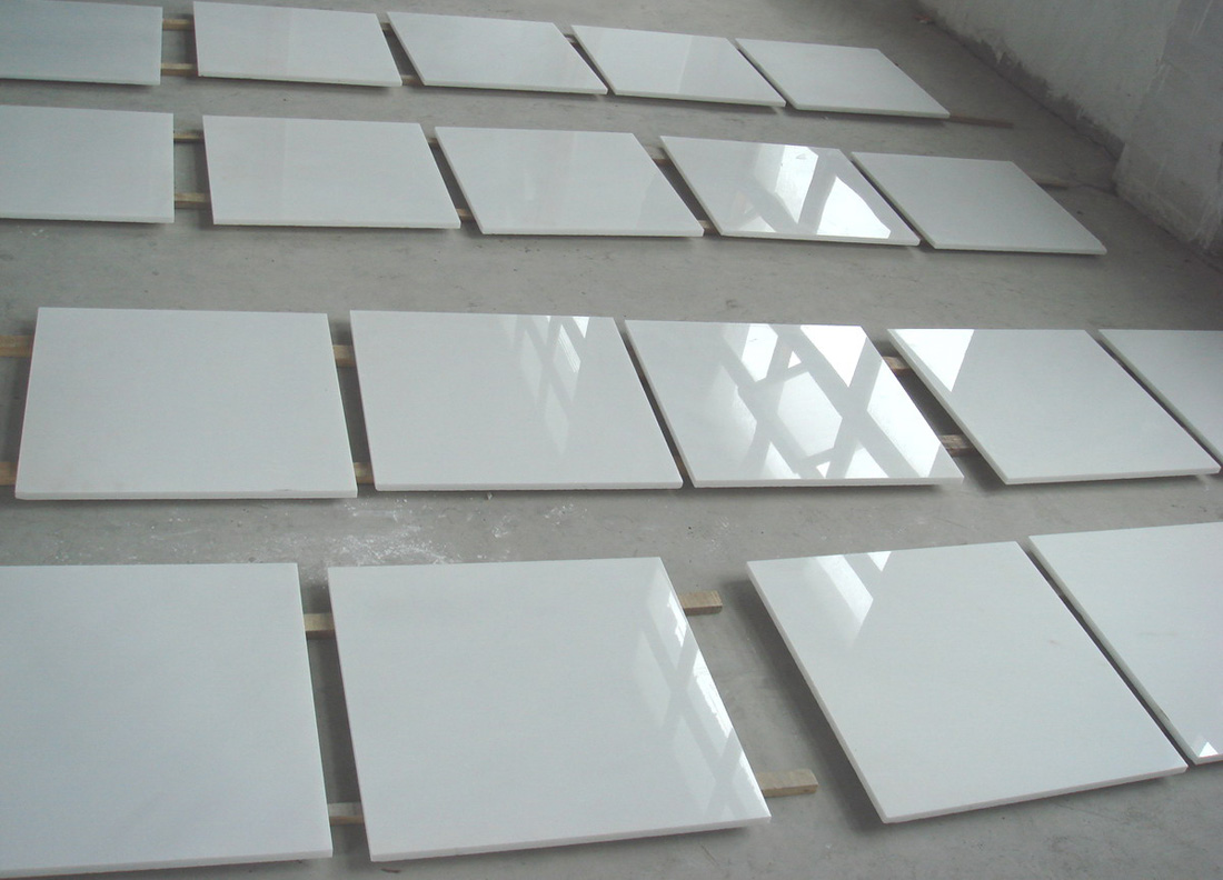 White Jade Marble Tiles Polished White Marble Stone Flooring Tiles