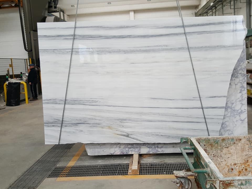 White Lasa Slabs Polished White Marble Slabs