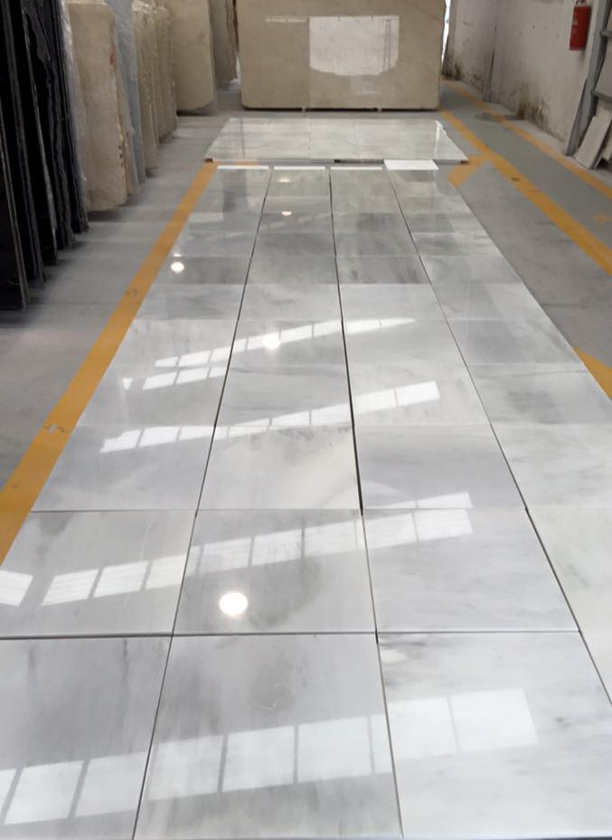 White Macael Marble Tiles Polished White Stone Tiles