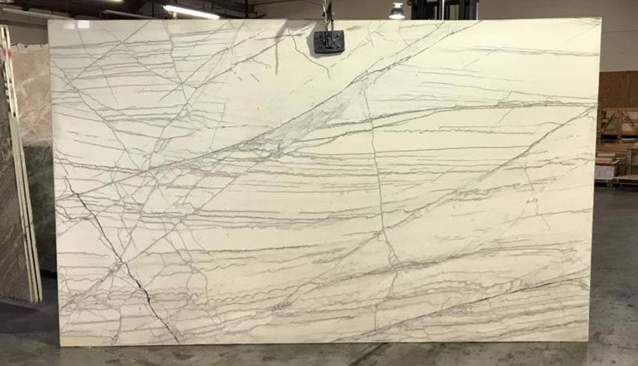 White Macauba Quartzite Slabs for Kitchen Countertops