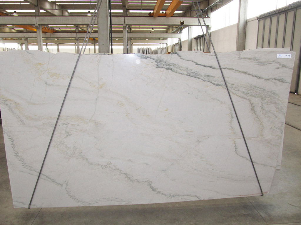 White Macaubas Natural White Quartzite Slabs