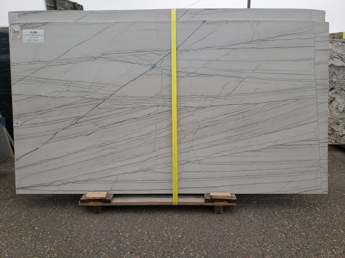 White Macaubas Quartzite Polished White Quartzite Slabs