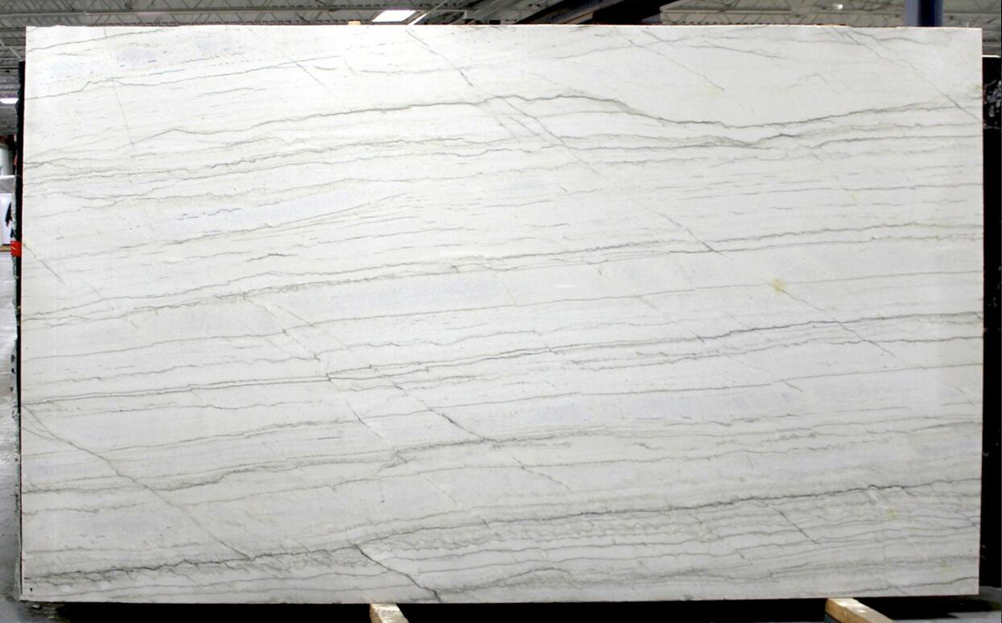 White Macaubas Veincut Slabs Brazil White Polished Quartzite Stone Slabs