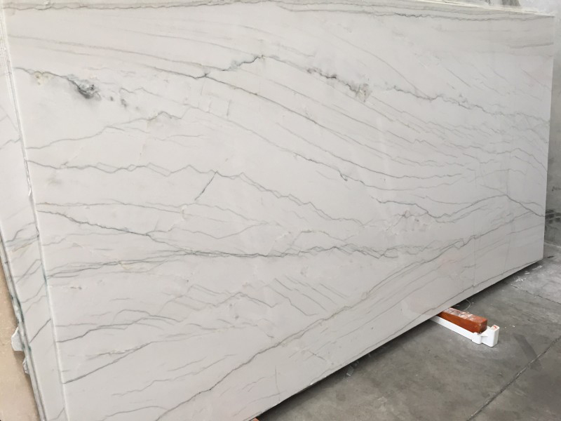 White Macaubus Quartzite Slabs Premium White Polished Quartzite Slabs