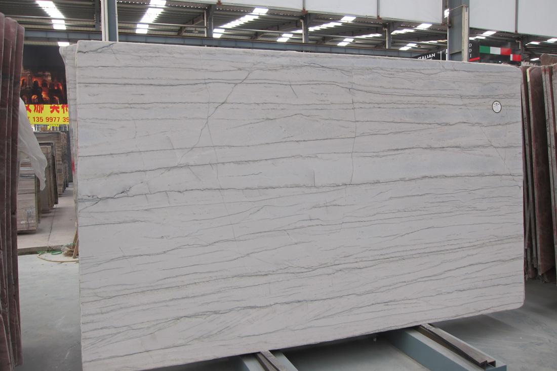White Macuba Natural White Quartzite Slabs