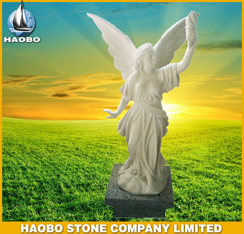 White Marble Angel Statues HBSA001