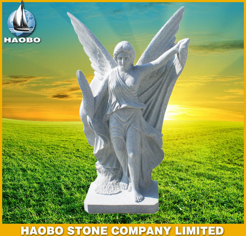 White Marble Angel Statues HBSA004