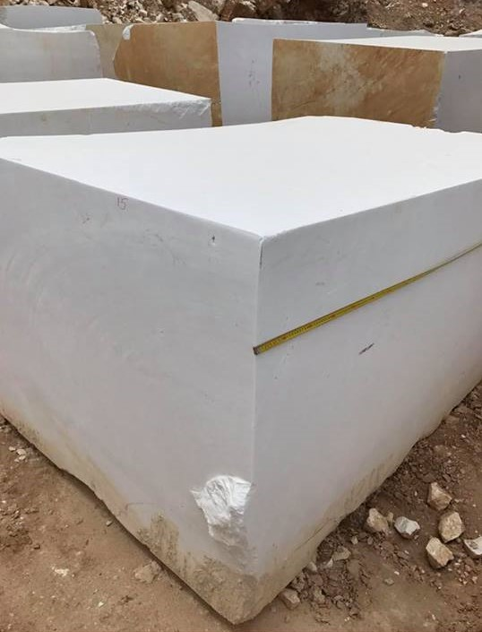 White Marble Blocks Thassos Natural Marble Blocks