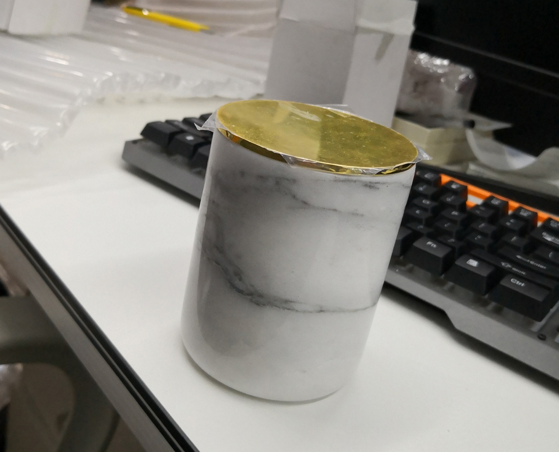 White Marble Candle Cup Stone Products with Cover