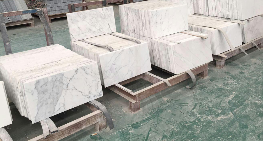 White Marble Flooring Tiles Calacatta Marble Tiles