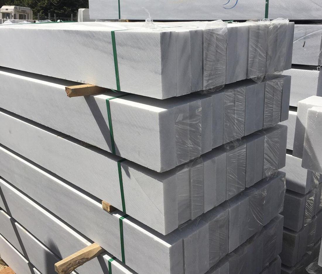 White Marble Marmara Marble Kerbstone