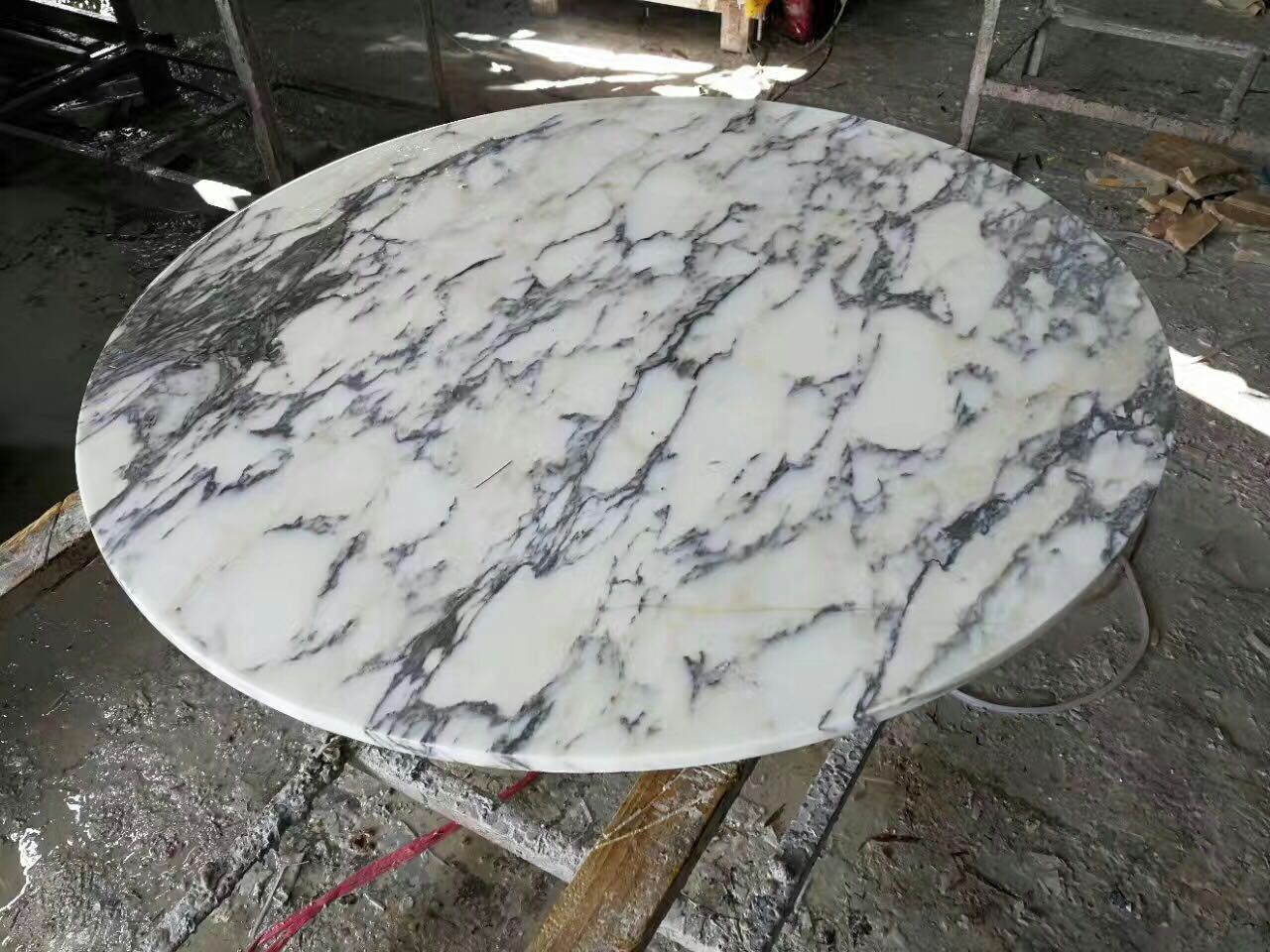 Sweet White Marble Round Table Top